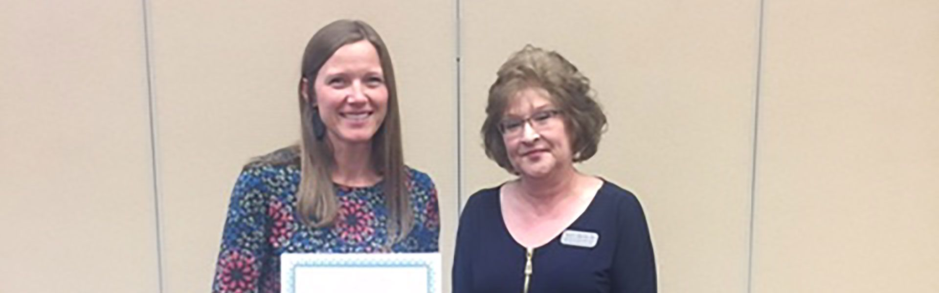 Honoring Mary Tuck, Speech Therapist at Lebanon Middle and High Schools